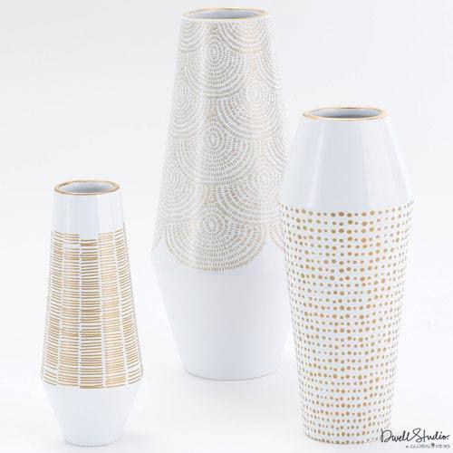 Global Views Ballinger Gold Small Vase
