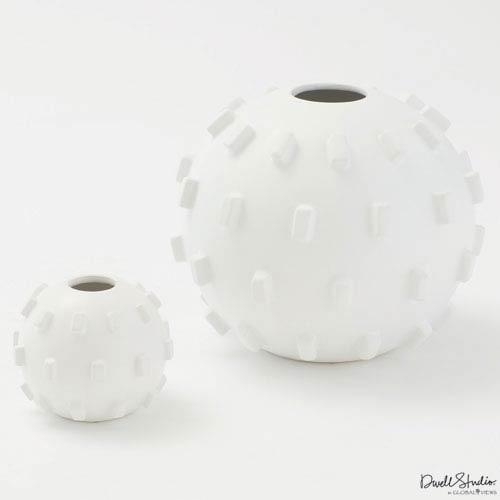Global Views Thielo Matte White Large Vase