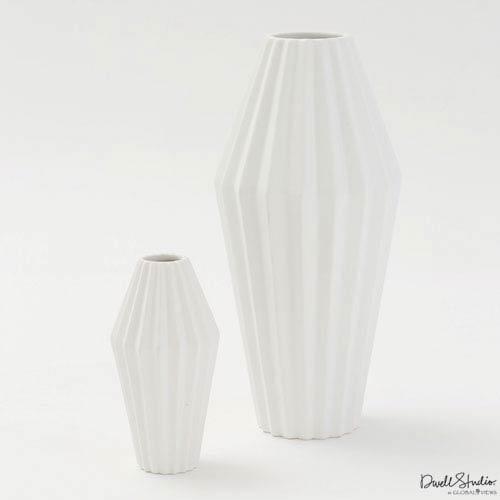 Global Views Milos Matte White Large Vase