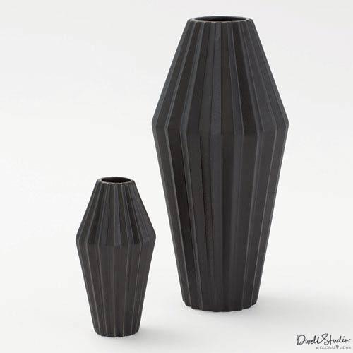 Global Views Milos Matte Black Small Vase D880231 Bellacor