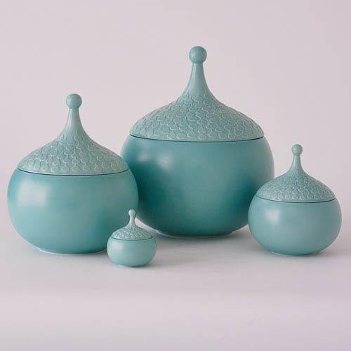 Global Views Teardrop Turquoise Medium Vase