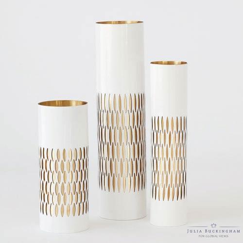 Global Views White Medium Bracelet Vase