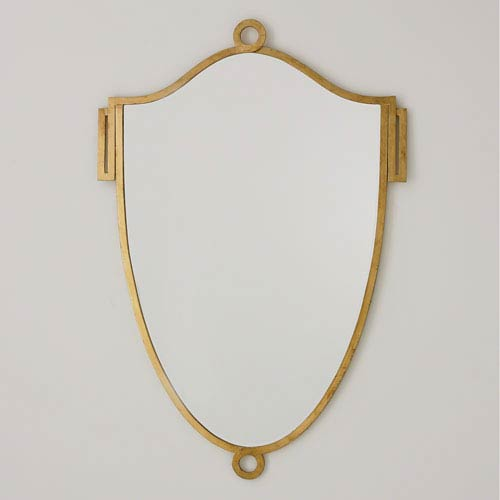 China Shield Gold Leaf Large Mirror
