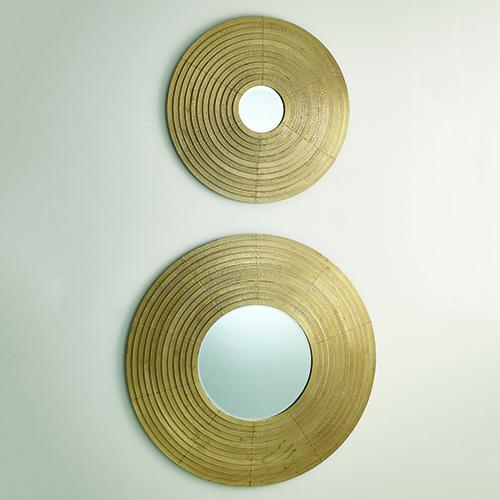 Studio A Etoile Brass Large Mirror