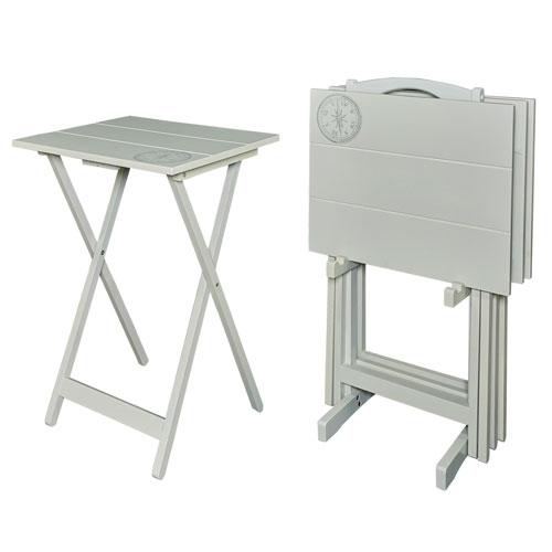 Skylar Gray 19-Inch Tray Table Set