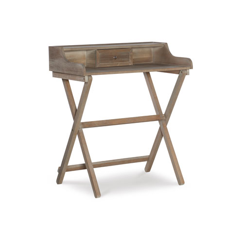 Leilani Rustic Brown Folding Desk