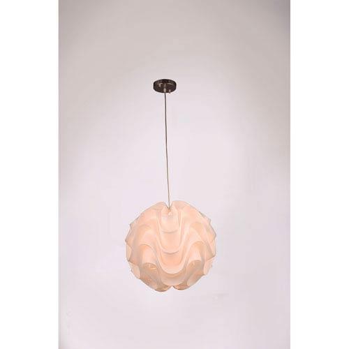 Nami White and Chrome 16-Inch One-Light Globe Pendant