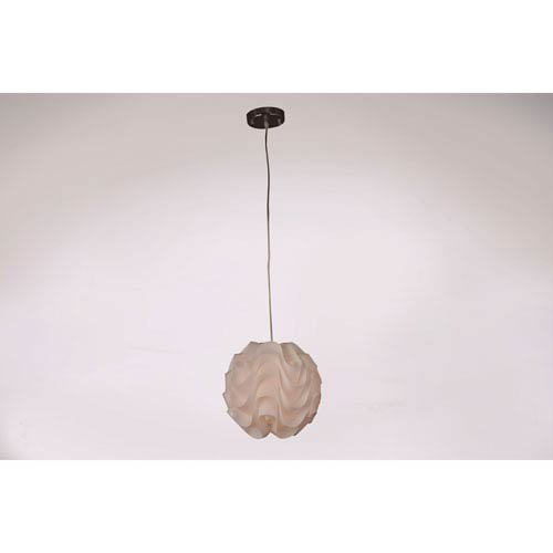 Nami White and Chrome 13-Inch One-Light Globe Pendant