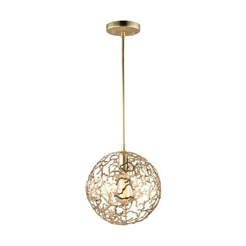 Helios Matte Gold 1-Light Pendant