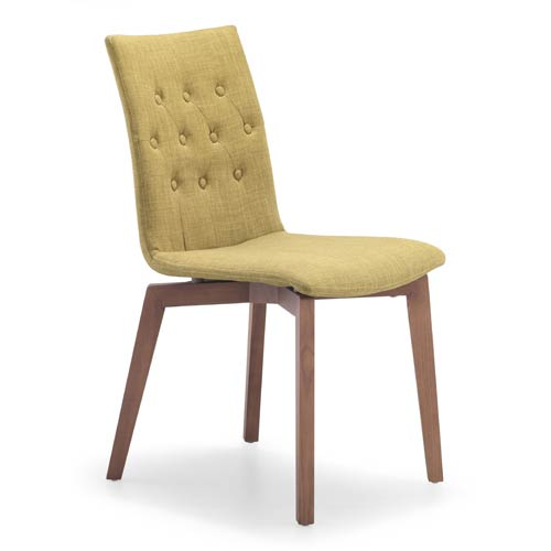 Zuo Modern Contemporary Orebro Gray and Ash Wood Side Chair