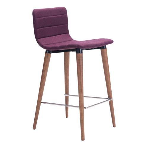 Jericho Counter Chair Purple (Set of 2)