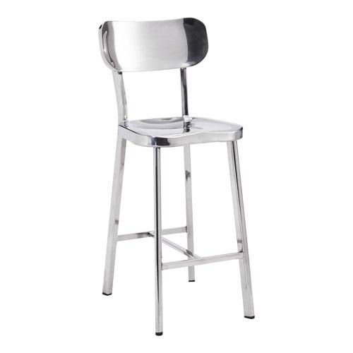 Winter Counter Chair Stainless Steel (Set of 2)