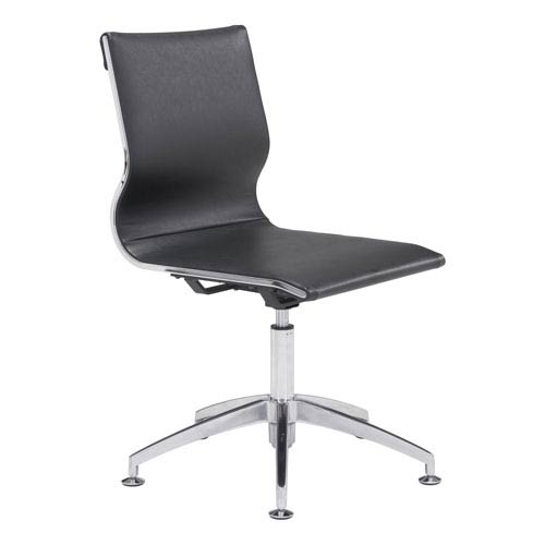 Zuo Modern Contemporary Glider Conference Chair Black