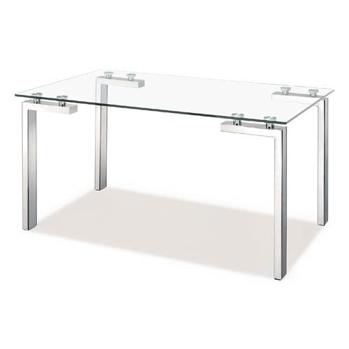 Roca Polished Stainless Steel Dining Table