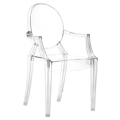 Anime Dining Chair Transparent, Set of Four