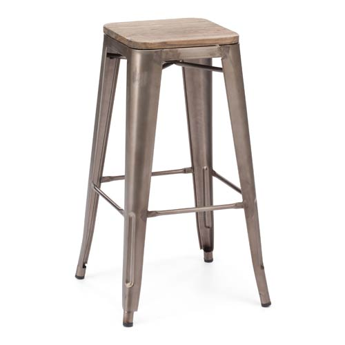 Marius Brown and Steel Bar Chair