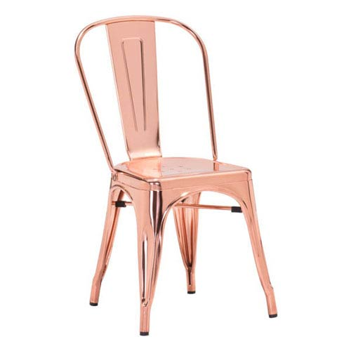 Zuo Modern Contemporary Elio Dining Chair Rose Gold