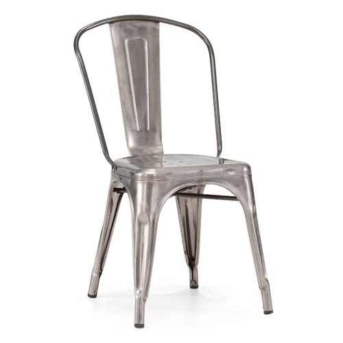 Zuo Modern Contemporary Elio Stainless Steel Side Chair