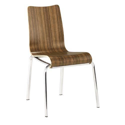 Jazz Stripe Wood Reach Chair, Set of Two