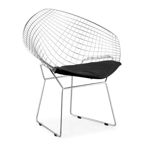 Zuo Modern Contemporary Net Black and Chromed Solid Steel Dining Chair
