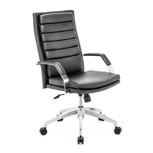 Director Comfort Black and Chromed Steel Office Chair