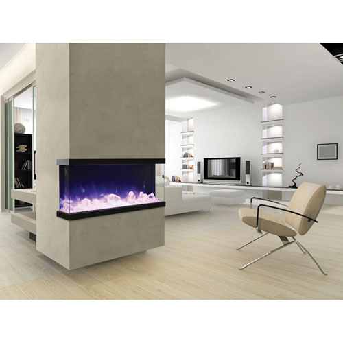 Truview 50 In. Three-Sided Fireplace