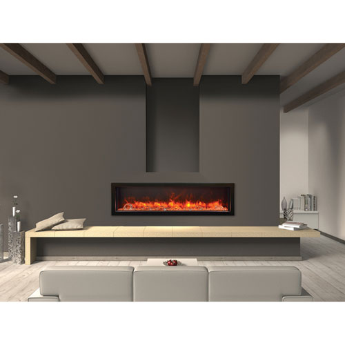 Amantii Electric Fireplaces Panorama Black 60 Inch Deep Electric