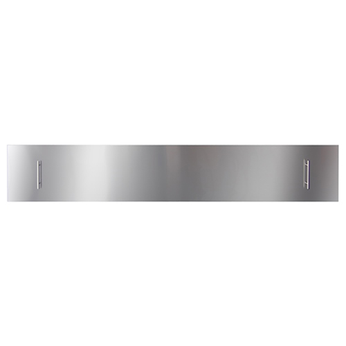 Fireplace Stainless Steel Cover 72-Inch Slim or Deep Electric Fireplace
