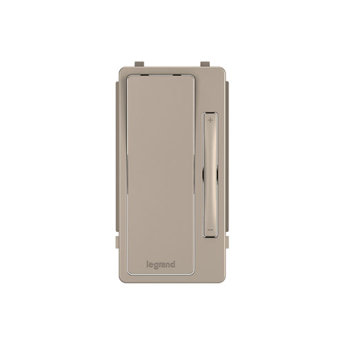 Nickel Multi-Location Remote Dimmer Interchangeable Face Plate