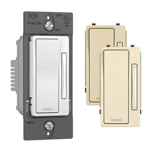 Tri-Color Single Pole 3-Way Multi-Location Remote Dimmer