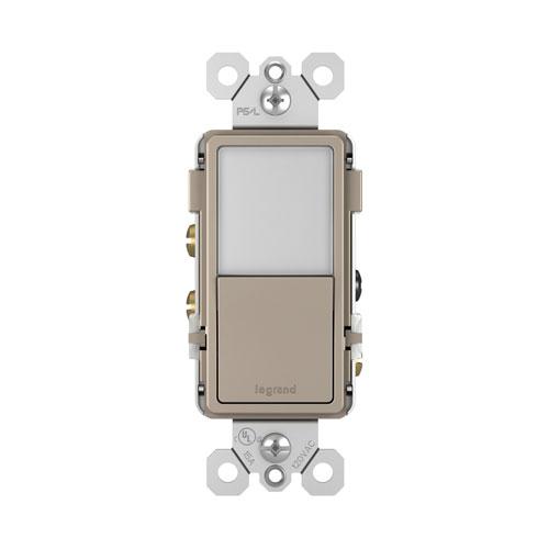 Nickel Night Light with Single-Pole 3-Way Switch