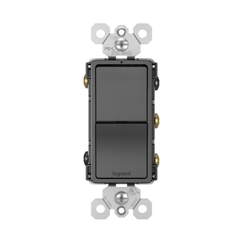 Legrand radiant Black Two Single Pole 3-Way Switches