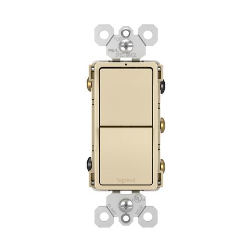 Legrand radiant Ivory Two Single Pole 3-Way Switches