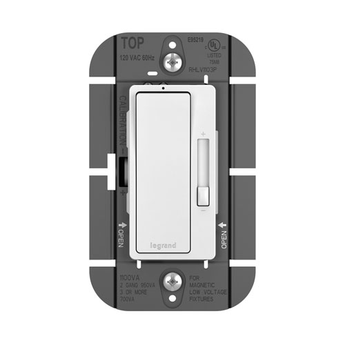 1100VA Tri-Color Magnetic Low-Voltage Single Pole 3-Way Dimmer