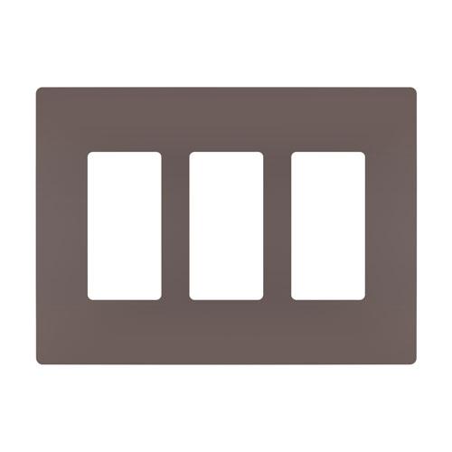 Dark Bronze Screwless 3-Gang Wall Plate