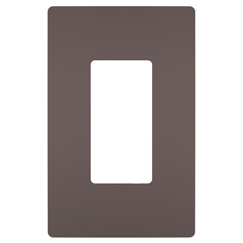 Dark Bronze Screwless 1-Gang Wall Plate
