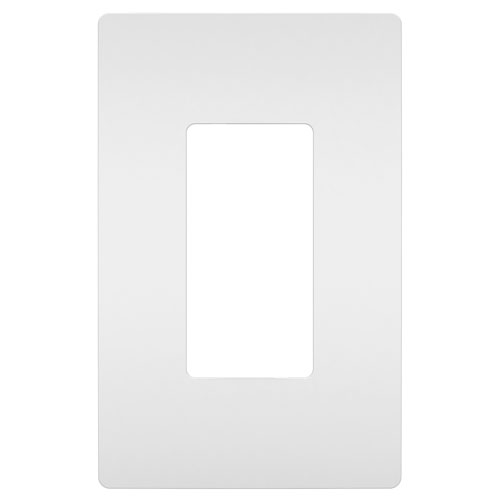 White Screwless 1-Gang Wall Plate