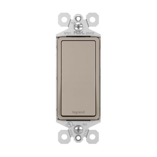 Nickel 15A Single Pole Switch