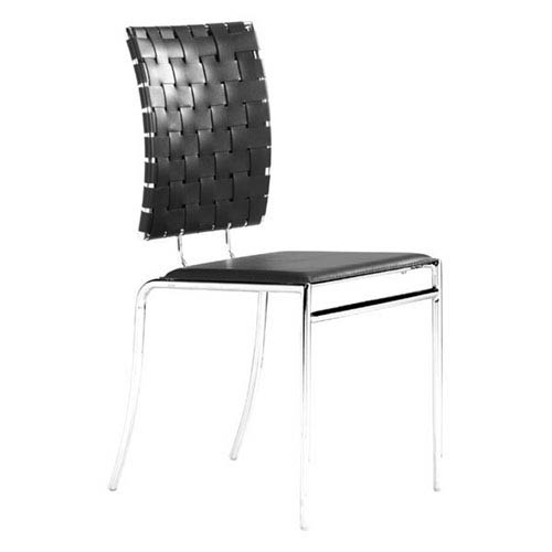 Zuo Modern Contemporary Criss Cross Dining Chair Black (Set of 4)
