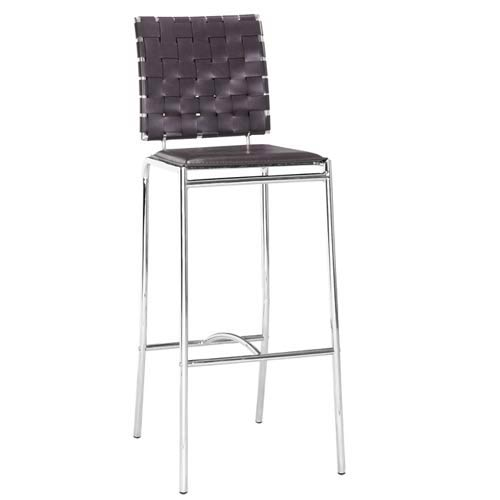 Espresso Criss Cross Bar Stool