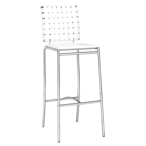 White Criss Cross Bar Stool
