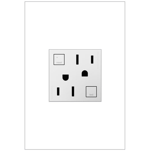 White Tamper-Resistant GFCI Outlet