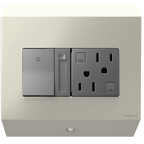 Titanium Control Box with Paddle Dimmer and 15A GFCI