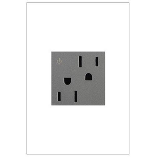 Magnesium Tamper Resistant Dual Outlet 15A-125V