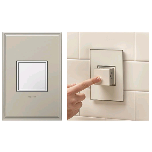 Legrand Adorne White Pop-Out 1-Gang Outlet