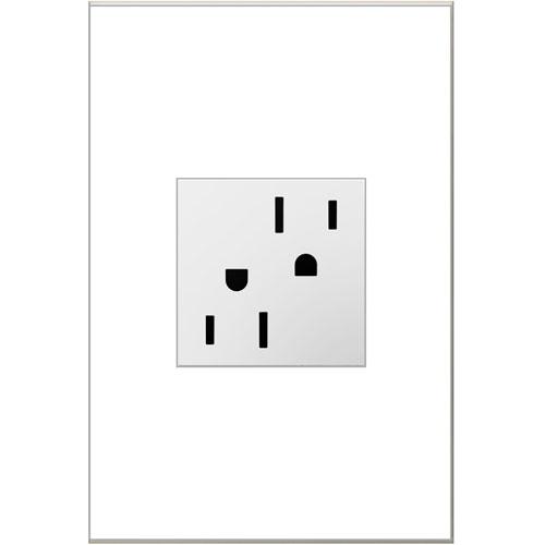 White Tamper-Resistant Outlet