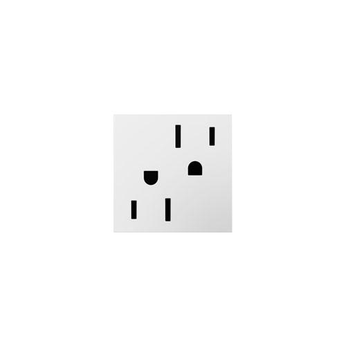 White Tamper-Resistant 20 Amp Outlet