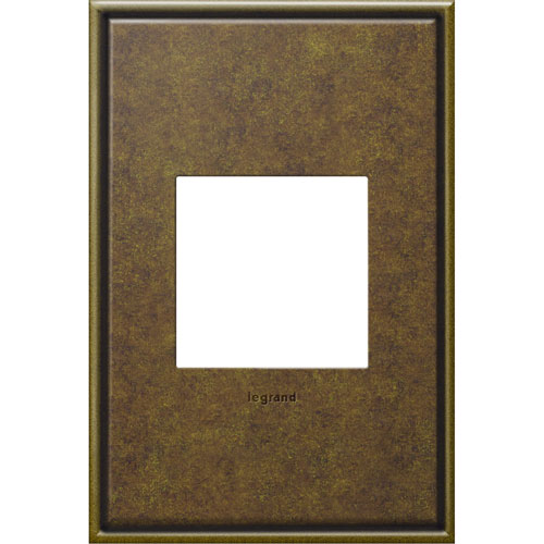 Aged Brass Cast Metal 1-Gang Wall Plate