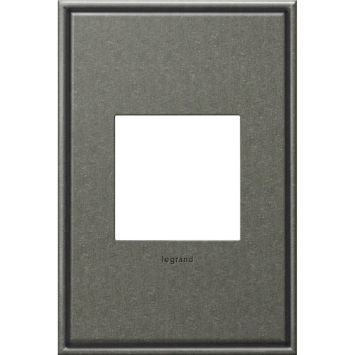 Brushed Pewter Cast Metal 1-Gang Wall Plate
