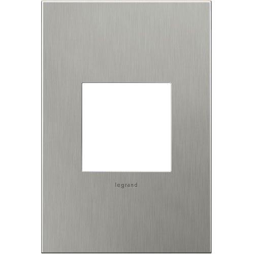 Brushed Stainless Cast Metal Steel 1-Gang Wall Plate